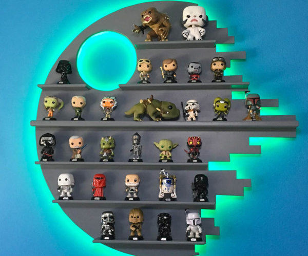 This Death Star Shelf Is Perfect for Displaying Star Wars POP! Figures