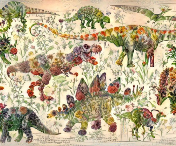 Neural Network Turns Flowers Into Dinosaurs