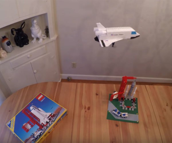 Guy Made His LEGO Space Shuttle Fly