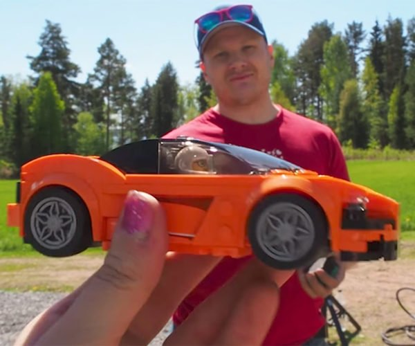 Crash Testing LEGO Cars with an Air Cannon