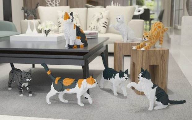 Build Your Own LEGO Style Cat