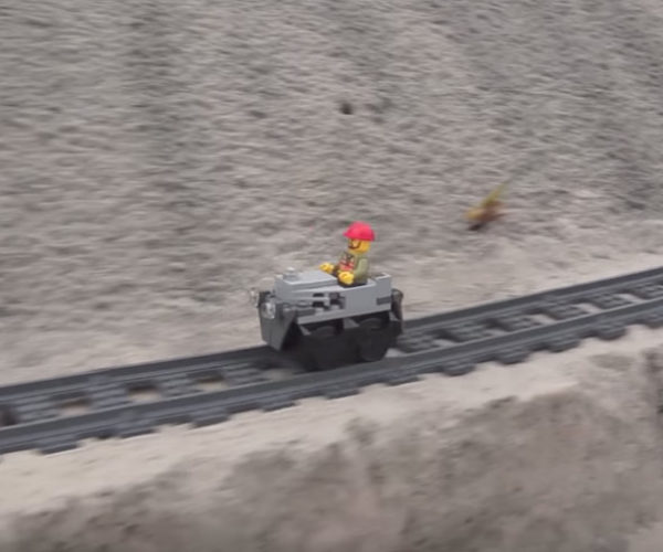 Ride Along on This Awesome LEGO Sand Roller Coaster