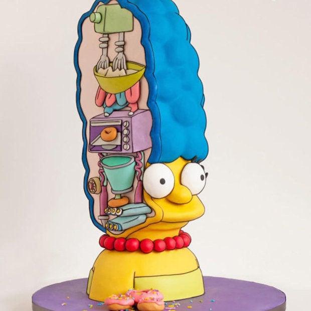 Marge Simpson Cake Hairdos and Hairdonuts