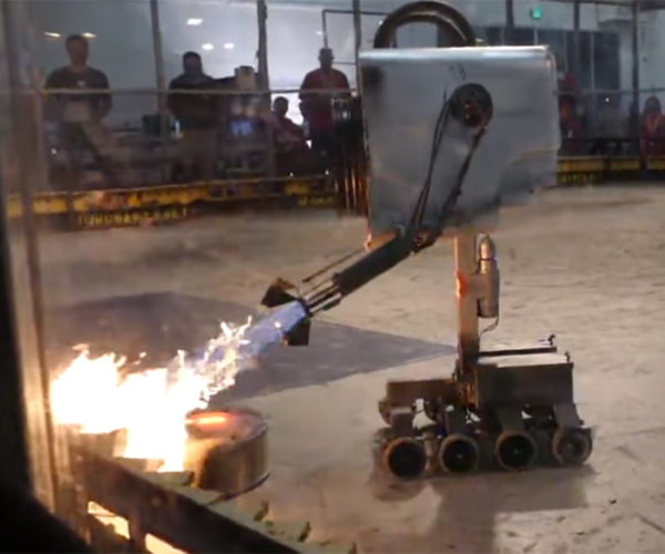 Giant Rick and Morty Butter Passing Robot Gets a Flamethrower: You Melt Butter