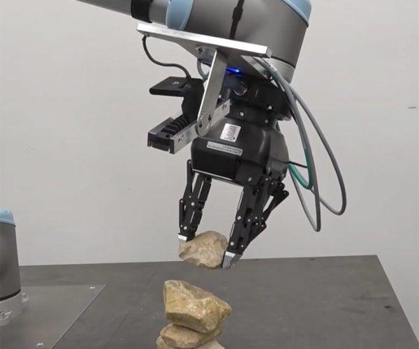 Autonomous Robot Picks up and Stacks Rocks