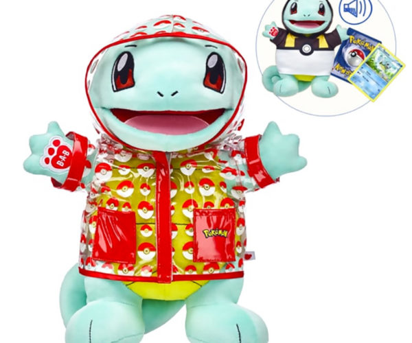 Build-A-Bear Adds Squirtle in a Raincoat