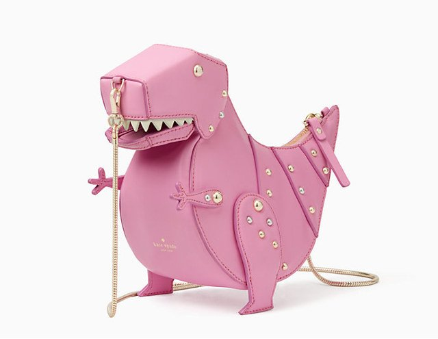 Now They Have A Great Choice In This Whimsies T Rex Crossbody Purse From Kate Spade It Is Pink Obviously Because Girls