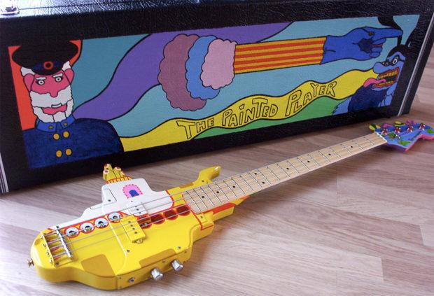 yellow submarine yellow submarine yellow bass guitar