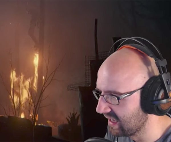 Guy Playing Creepy Horror Game Nearly Has a Heart Attack