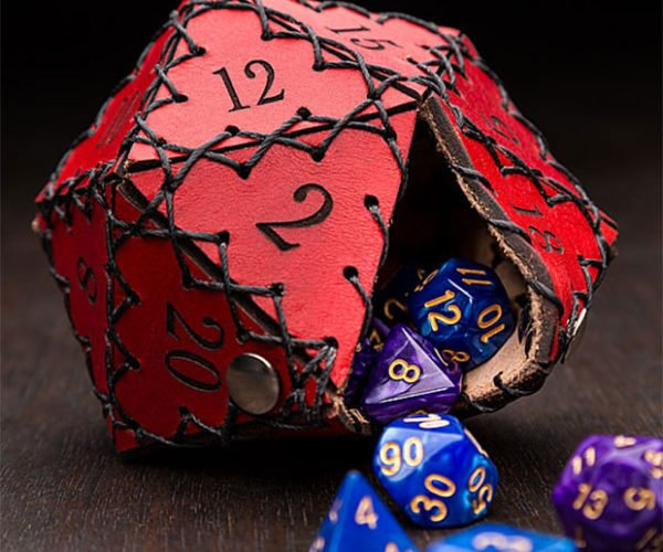 Giant D20 Pouch: Diceception