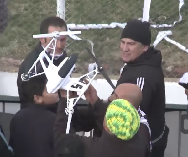 Soccer Fan Takes out Drone with Roll of Toilet Paper