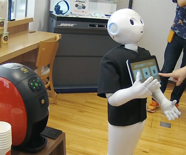 Pepper Robot Takes Coffee Orders, Too Lazy to Serve It