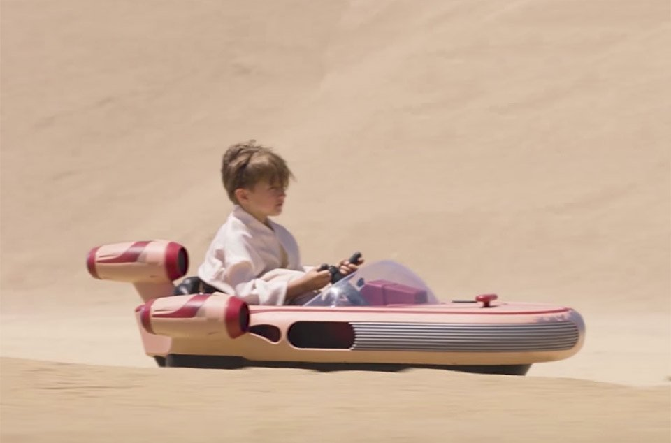 This Radio Flyer Star Wars Landspeeder will break your heart