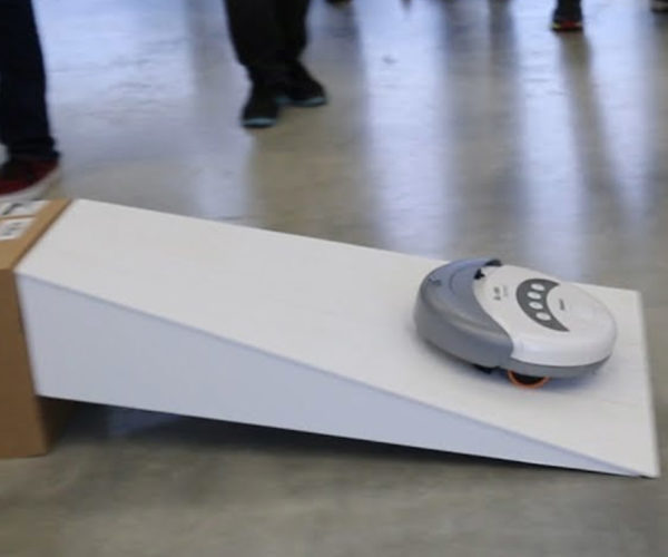 Racing Roomba Takes on an Obstacle Course