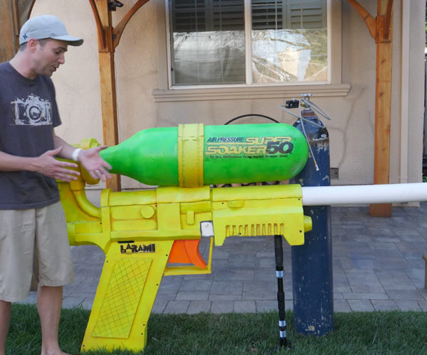 World's Largest Super Soaker Breaks Record and Breaks Glass