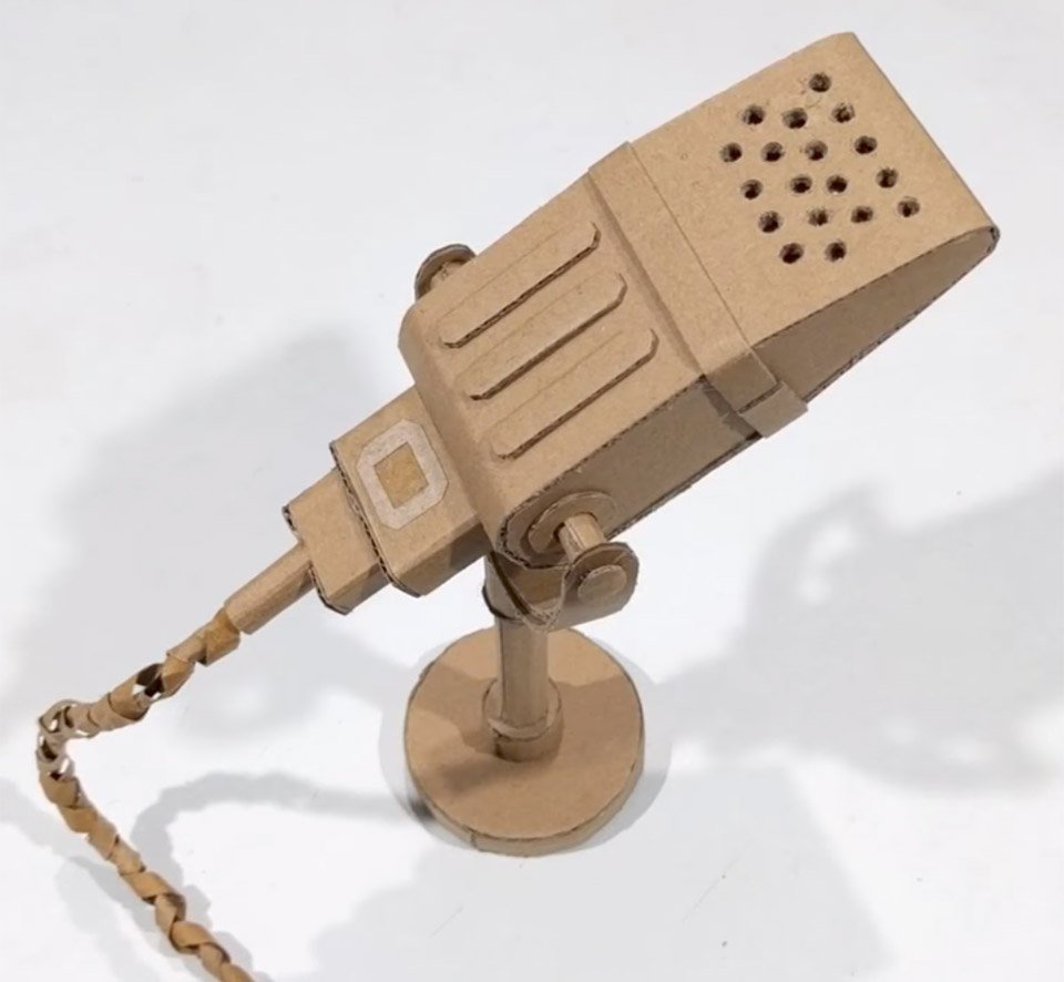 Microphone From Paper Cardboard Cardioid