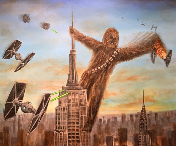 Chewbacca Kong Climbs the Empire State Building