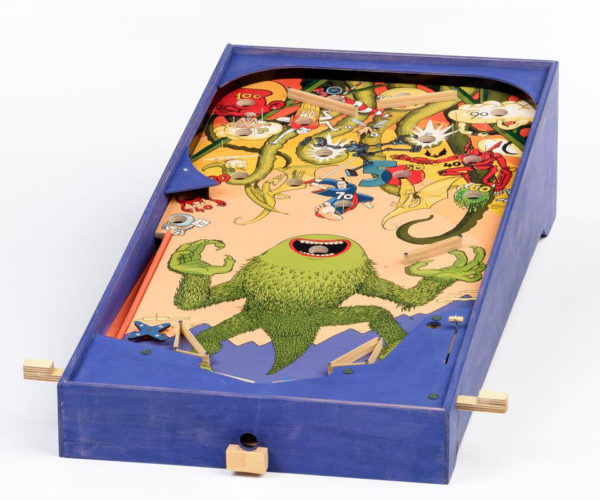 Handmade Wooden Pinball Machines Feature Wonderful, Whimsical Illustrations