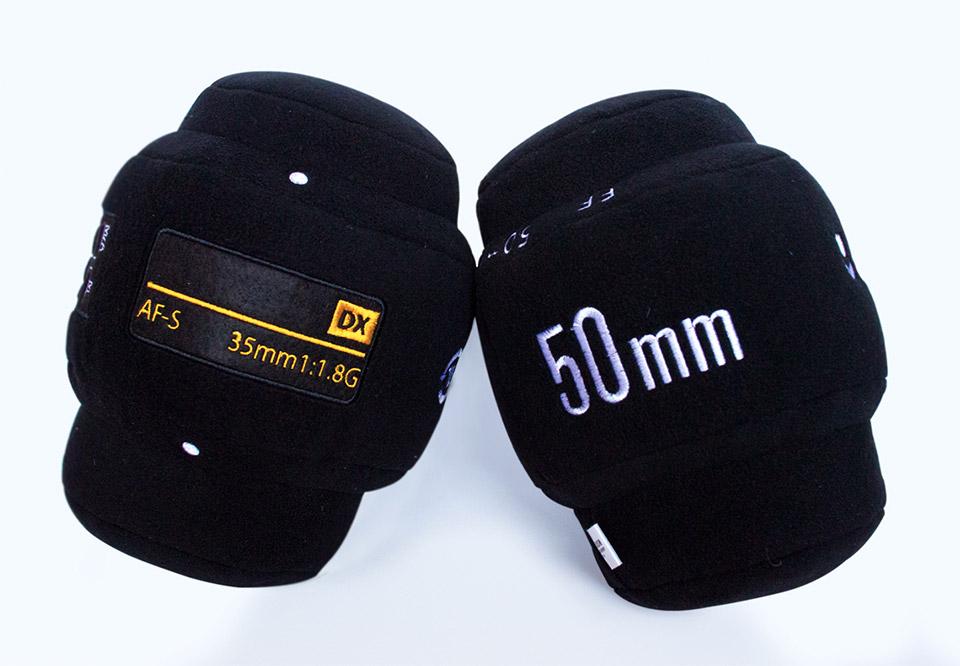 Plush Nikon And Canon Lens Pillows For Time Lapse Naps