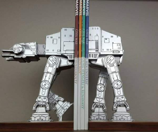 These AT-AT Bookends Won't Fall Over with a Tow Cable
