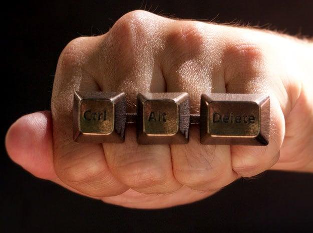 ctrl alt del keyboard ring punch to reset technabob