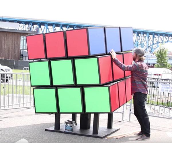 Building a Massive Rubik's Cube