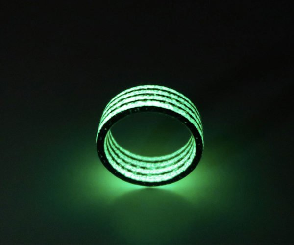 Glow-in-the-Dark Carbon Fiber Rings Is Modern Jewelry at Its Best