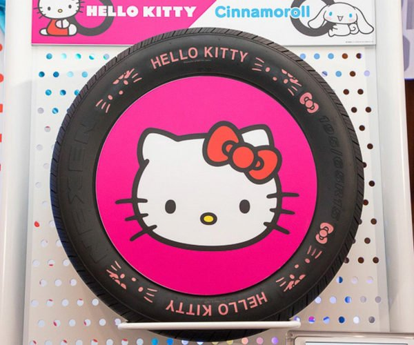 Hello Kitty Car Tires are Perfect for Jaguars