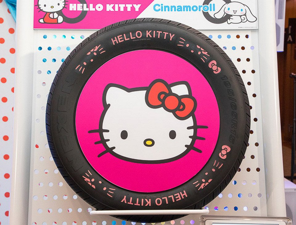 Hello Kitty Car Tires are Perfect for Jaguars - Technabob