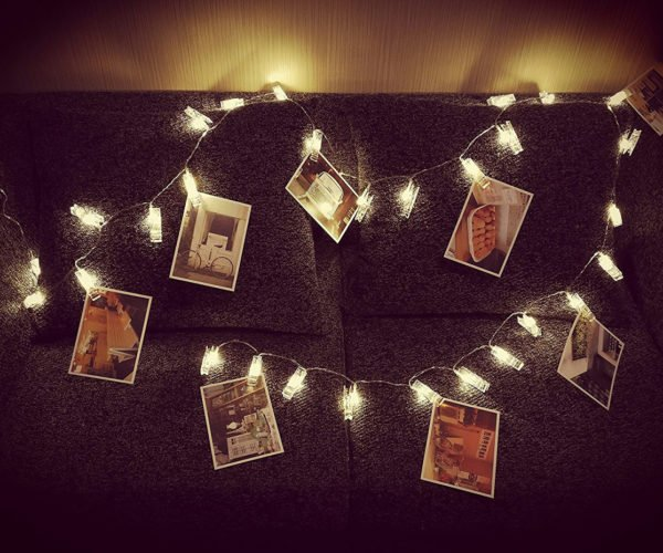 LED Photo Clip Light Strings Are a Fun Alternative to Picture Frames