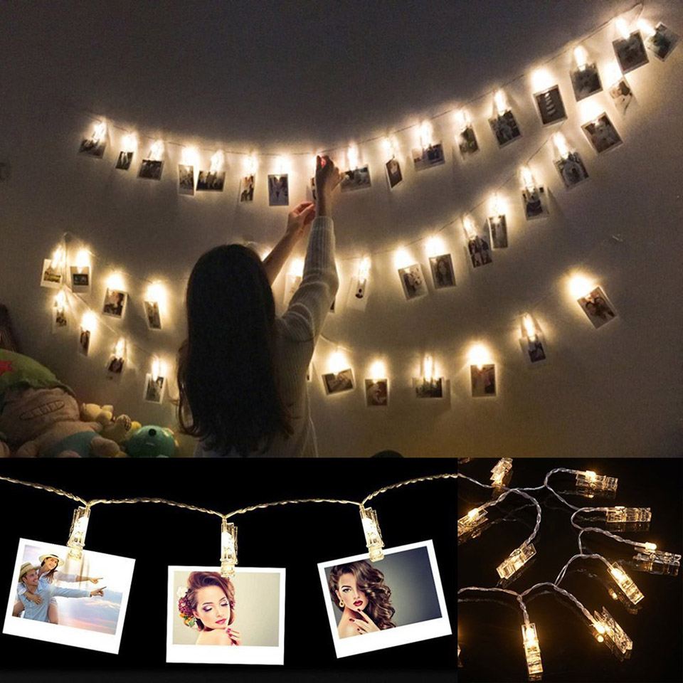 LED Photo Clip Light Strings Are a Fun Alternative to Picture Frames ...