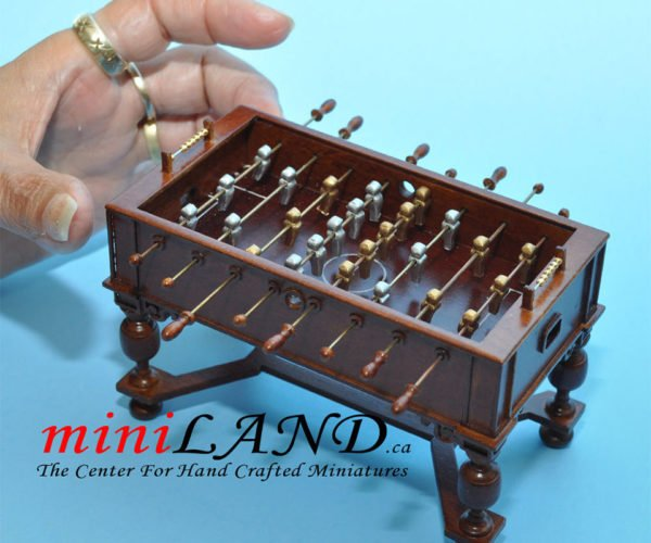 Miniature Foosball Table Is Perfect for Dollhouse Dive Bars