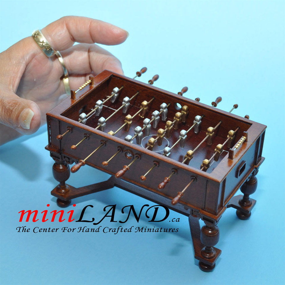 This Handcrafted Mini Foosball Table Comes From Victoria, Canadau0027s  MiniLAND, And Is Spot On Accurate To The Real Deal. From The Tiny, Faceless  Athletes, ...