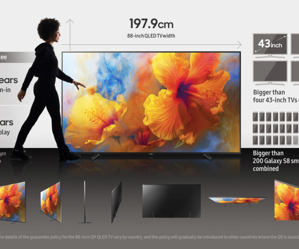 Samsung 88-inch QLED Display Is Ridiculously Large