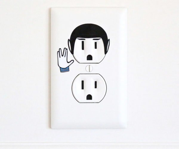 This Star Trek Outlet Sticker Will Give You an Electric Spock
