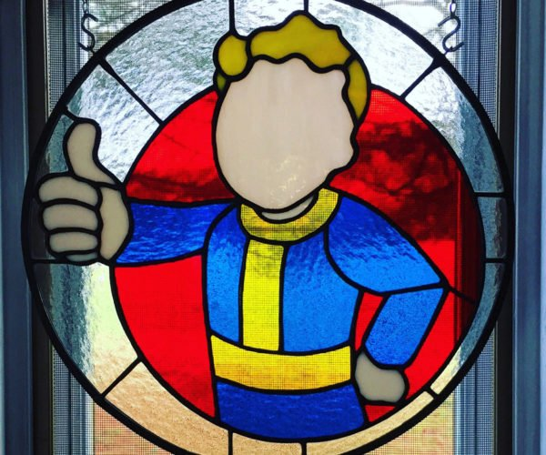 Vault Boy Stained Glass Levels up Your Window