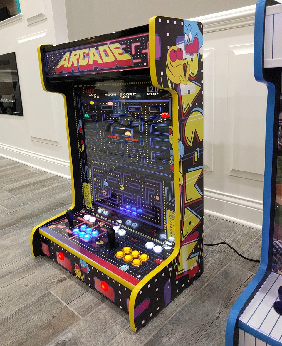 these wall mounted arcade cabinets save quarters and space technabob. Black Bedroom Furniture Sets. Home Design Ideas