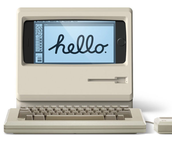 This Stand Turns Your iPhone into a Classic Macintosh