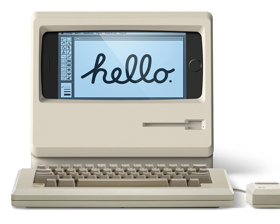 This Stand Turns Your iPhone into a Classic Macintosh ...