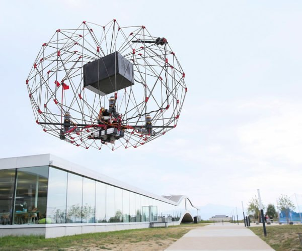 Engineers Invent Folding Delivery Drone That Carries Cargo Inside