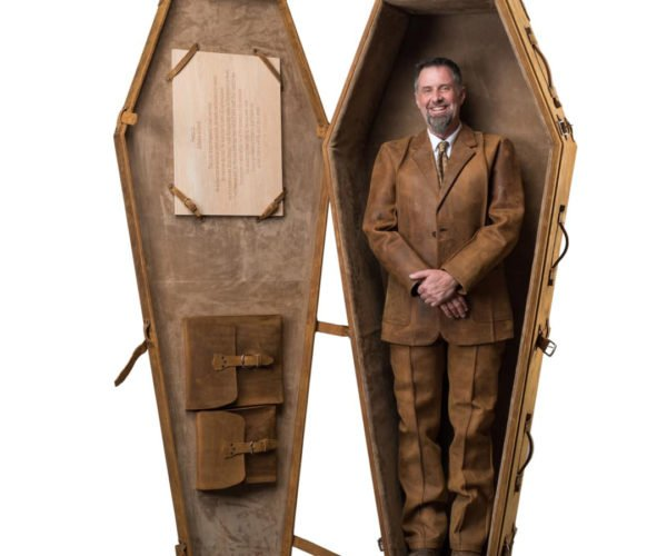 This Leather Coffin Is One Fine Final Resting Place