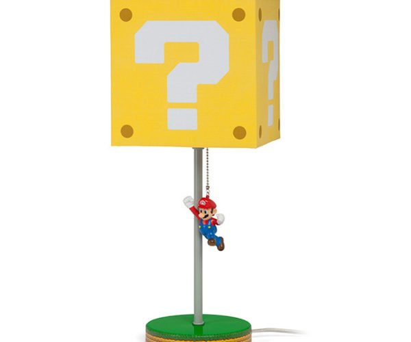 Super Mario Question Block and Chain Chomp Lamps Light Up the Mushroom Kingdom