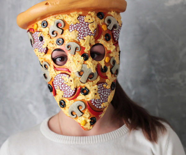 Pizza Face Mask Lets You Costume with Mozzarella and Sausage