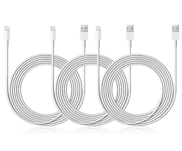 Get 3 Extra-long Lightning Cables to Charge All Your Apple Devices
