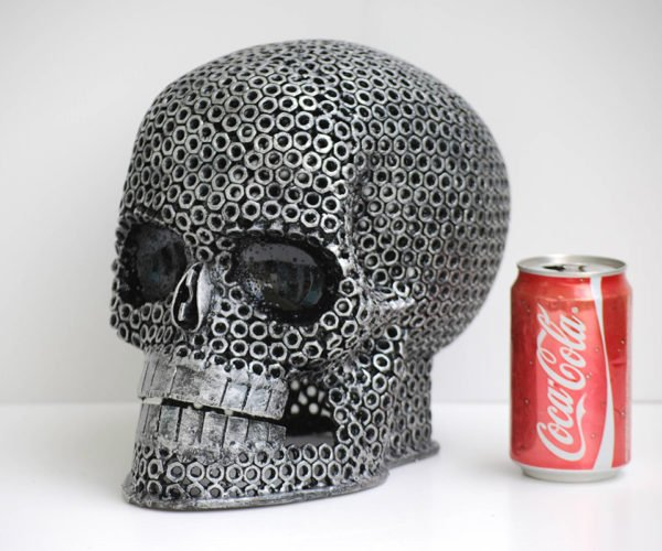 This Scrap Metal Skull Sculpture Is Making Me Nuts