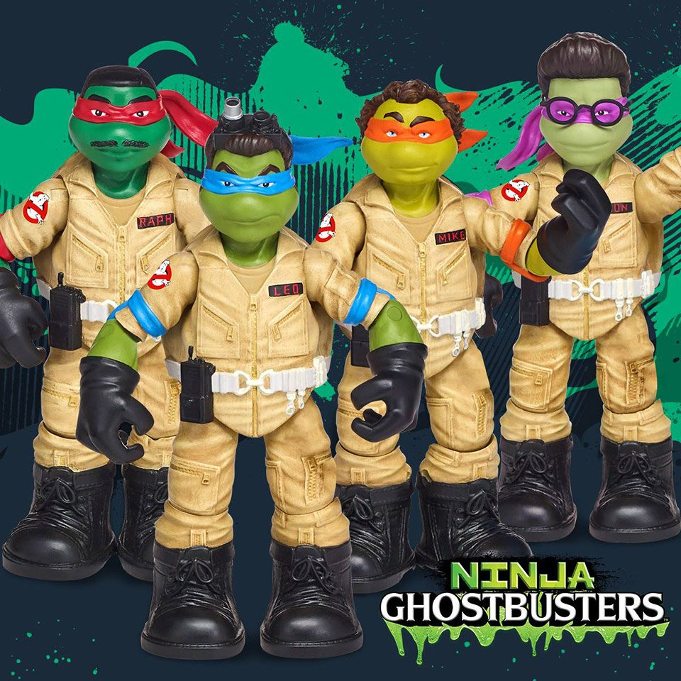 Playmates TMNT x Ghostbusters Action Figures ...