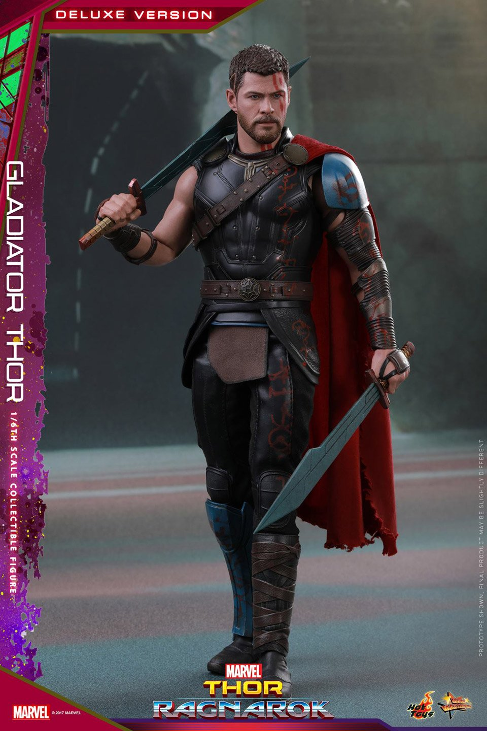 Hot Toys Action Figures: Hot Toys Gladiator Thor Action Figure: A Toy From Work