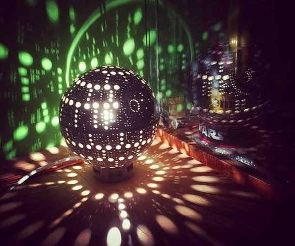 This Ceramic Death Star Lamp Is the Ultimate Accent Light in the Universe