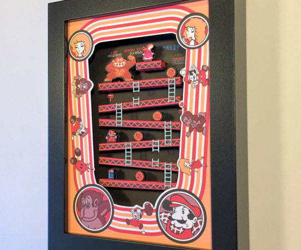It's On Like Donkey Kong with This Awesome Arcade Game Shadowbox