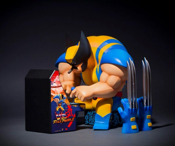Fools Paradise Wolfool X Figure Sees Wolverine Taking a Much Needed Arcade Break